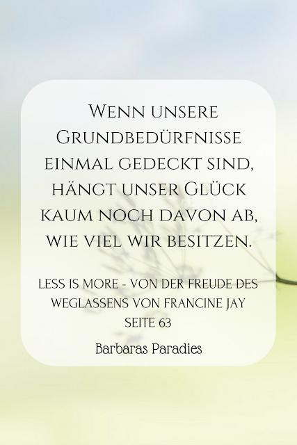Buchrezension #154 Less is more - Von der Freude des Weglassens von Francine Jay
