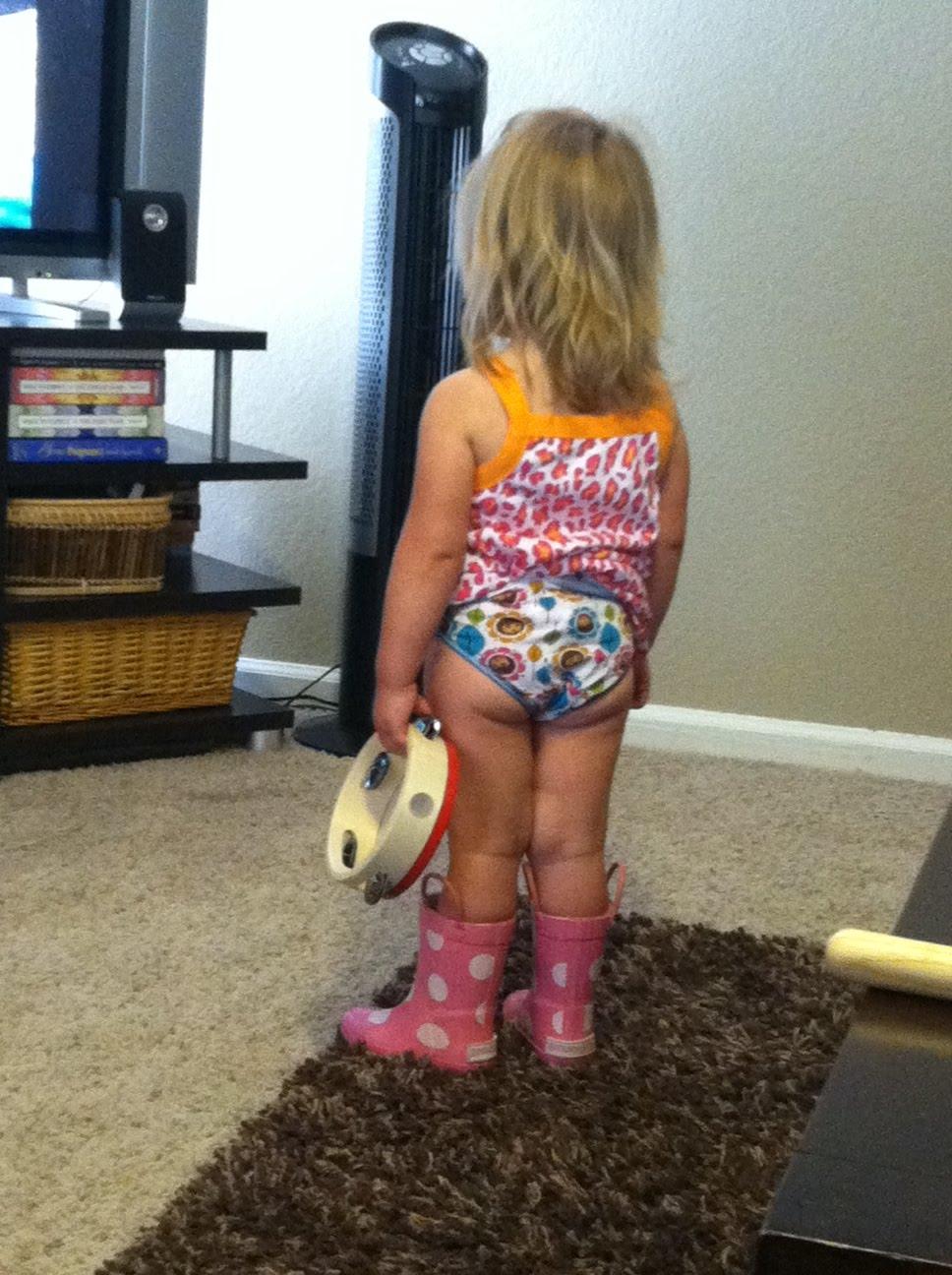 little girl potty accident