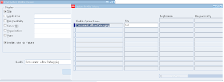 Oracle APPS Profile Option enable trace