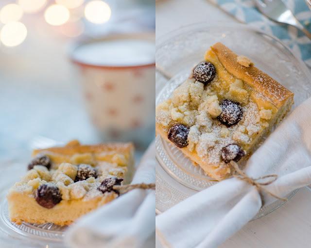 Kirsch- Streuselkuchen vom Blech, Rezept, Pomponetti