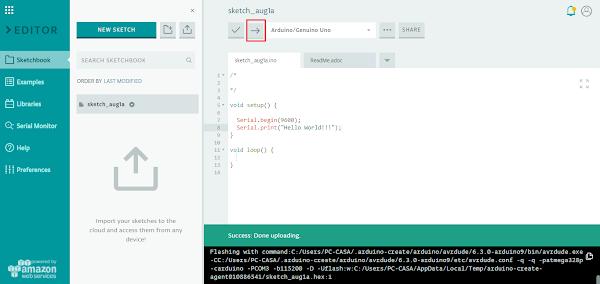 IDE envio de código