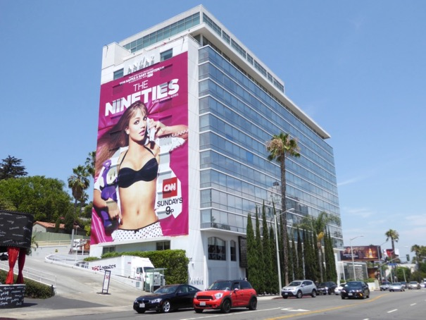 Giant Britney Spears Nineties CNN billboard