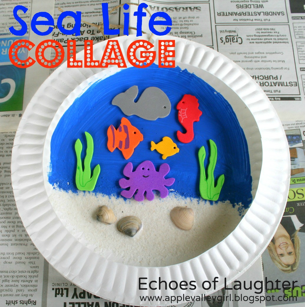 Sea Life Collage Kids Craft