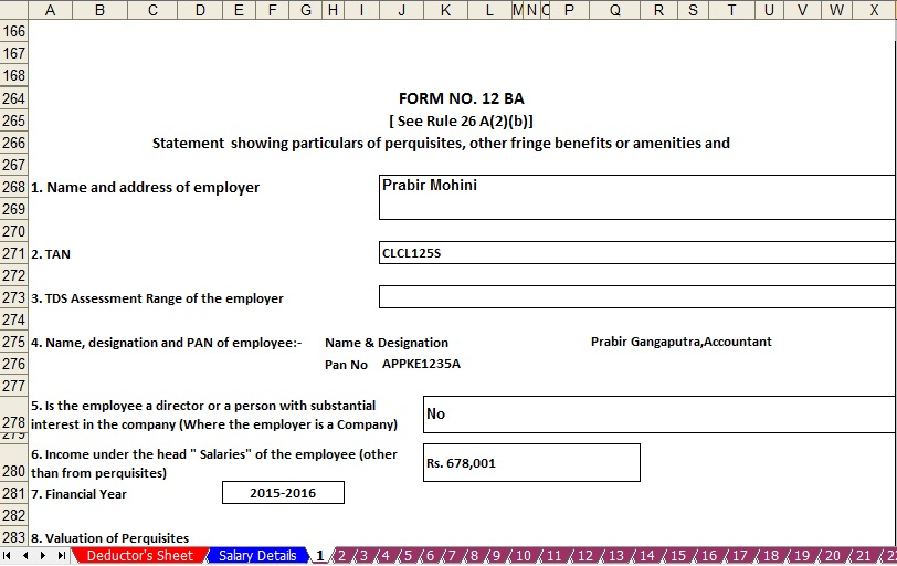 Income Tax Calculation Sheet For 2015 16 - salary in e tax