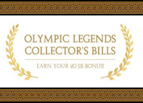 Swagbucks Olympic Legends Collector's Bills