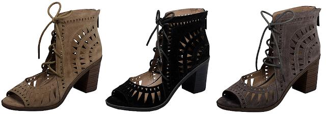 Breckelles Lasercut Chunky Heel Sandals $22-$28