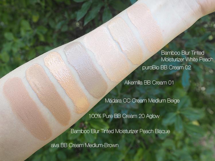 BB Cream Swatches Naturkosmetik