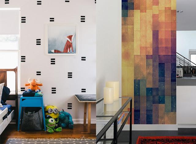 Ideias de decoração com papel contact para a casa