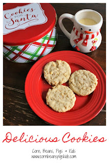 Delicious Cookies is a Classic Family Favorite - a buttery, shortbread cookie with an added crunch #ChristmasCookies #ChristmasCookiesWeek #sponsored