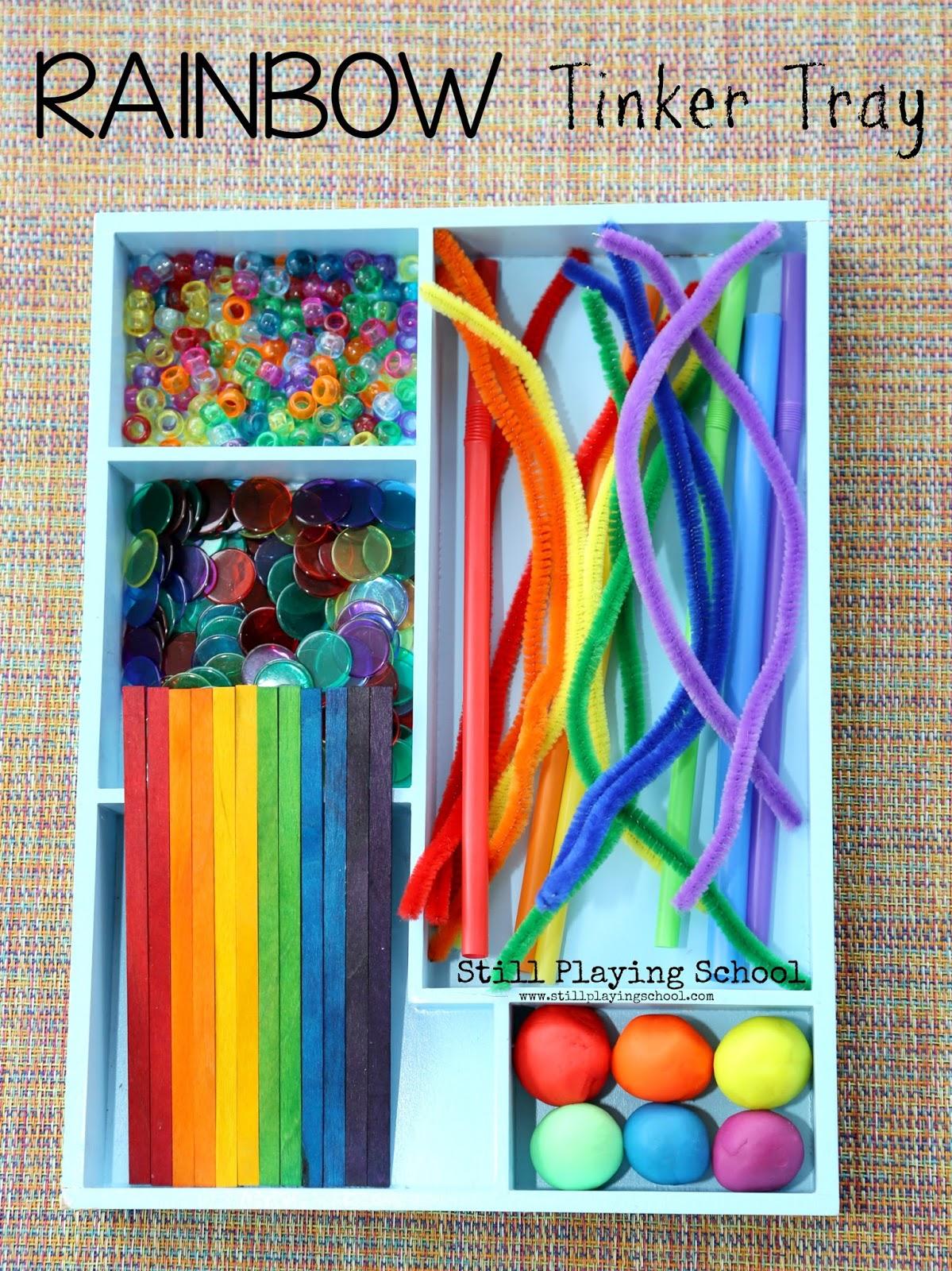 Rainbow Tinker Tray  Still Playing School