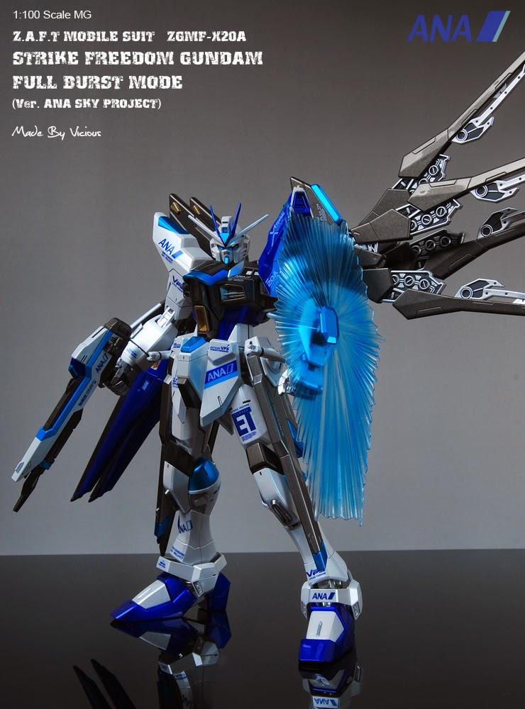 Cool Strike Gundam Full Burst Mode Mg Illustration