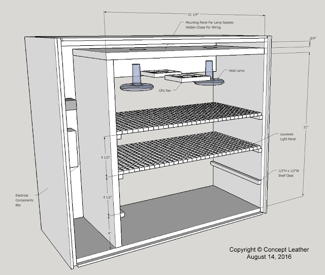 concept leather  diy hot box for drying leather