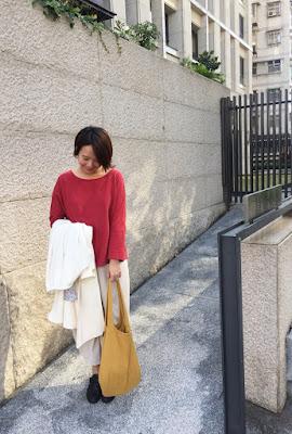 老幫手實穿小水滴的日常有機棉素色上衣