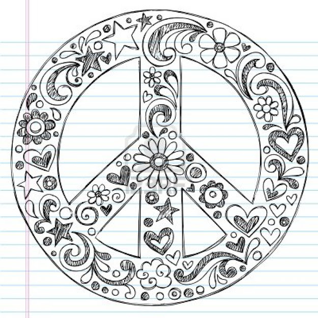 Peace Sign Tattoo Doodle Free Doodle Art Coloring Pages