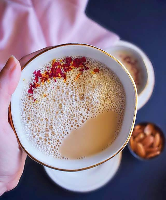Winter Drink Recipe - Saffron-Rose Chai Tea by Easy Cooking With Molly