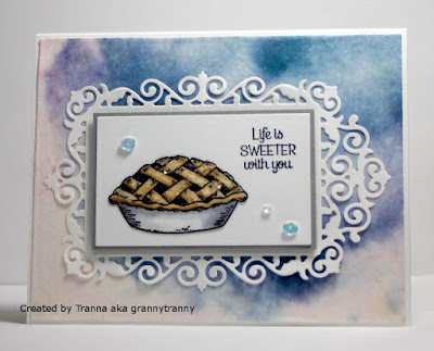 ODBD Homemade Pie, ODBD Custom Filigree Frames, Card Designed by Tranna aka grannytranny