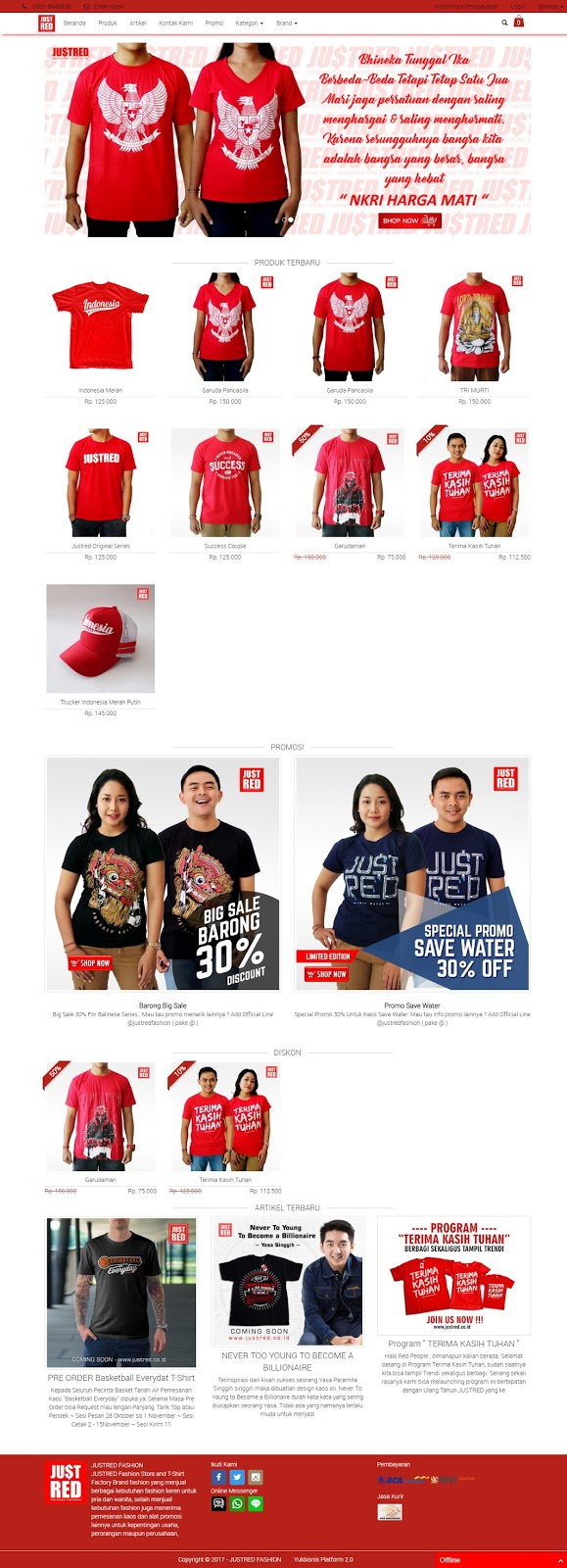 Contoh Website Online Shop