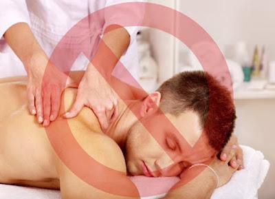 Когда массаж противопаказан