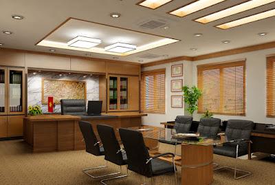 Thiết kế nội thất phòng giám đốc cao cấp, sang trọng