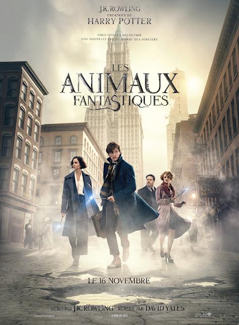 les animaux fanastiques, J.K.Rowling, harry potter, cinéma, film, affiche, bullelodie