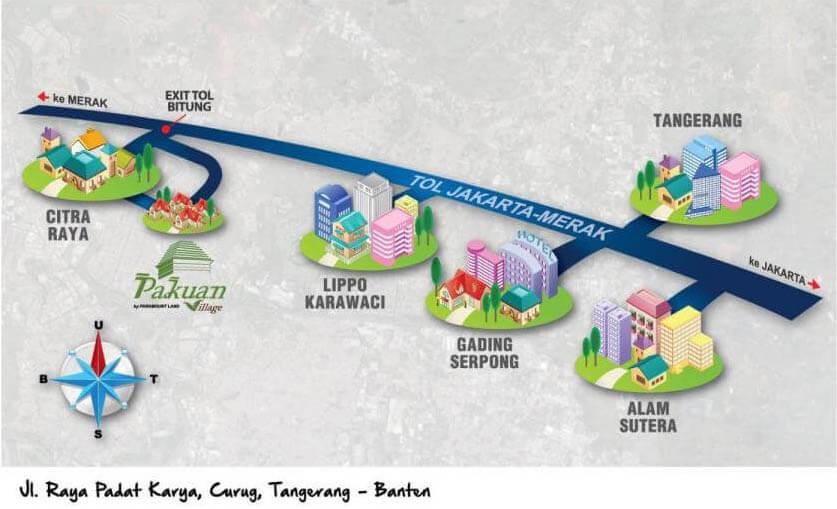 Peta Lokasi Pakuan Village