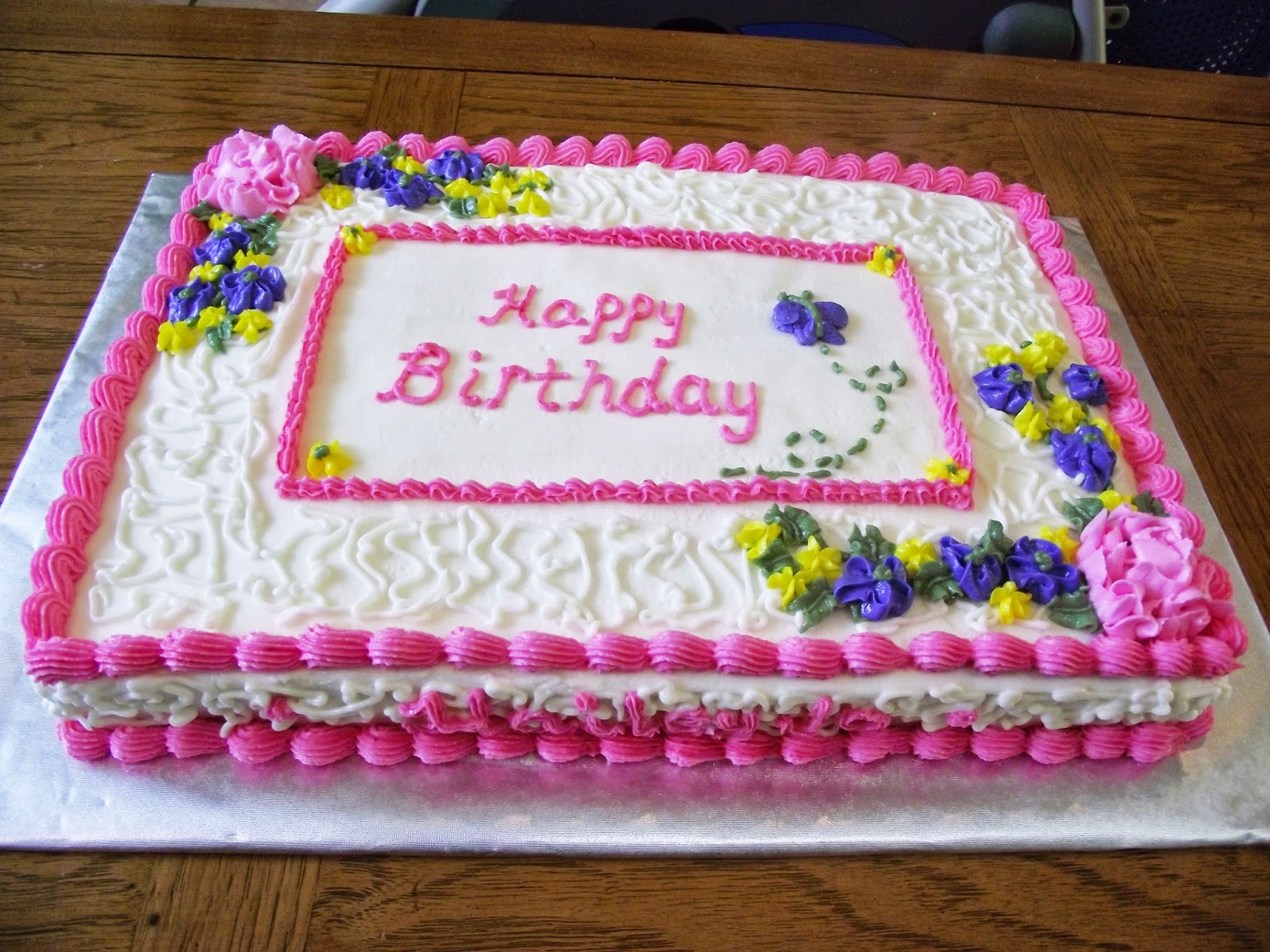 Old Birthday Cakes Girls Pink Cake 50th Ideas