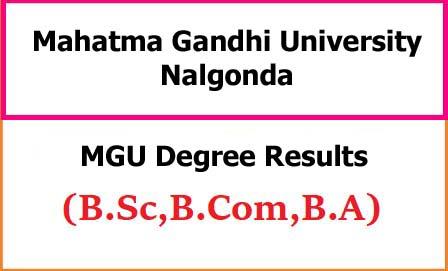 MGU Degree Exam Result