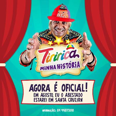Resultado de imagem para Tiririca vem ao RN apresentar sua história em show de humor