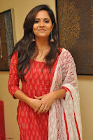 Anasuya Bharadwaj in Red at Kalamandir Foundation 7th anniversary Celebrations ~  Actress Galleries 014.JPG