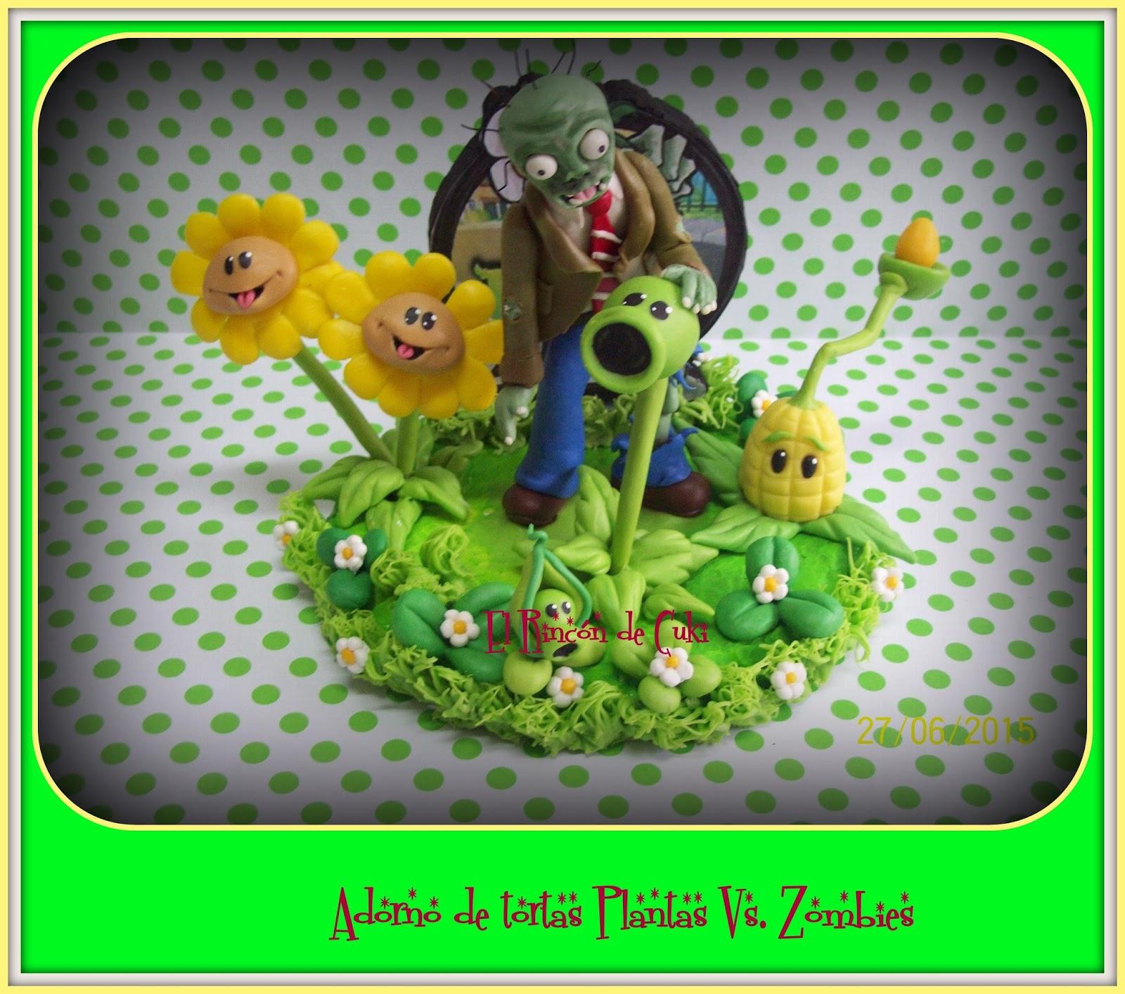 el rincon de cuki adorno para tortas plantas vs zombies