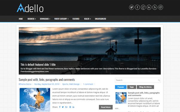 Adello Free Blogger Template