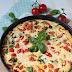 Frittata mit Pfifferlingen, Tomaten und Spinat
