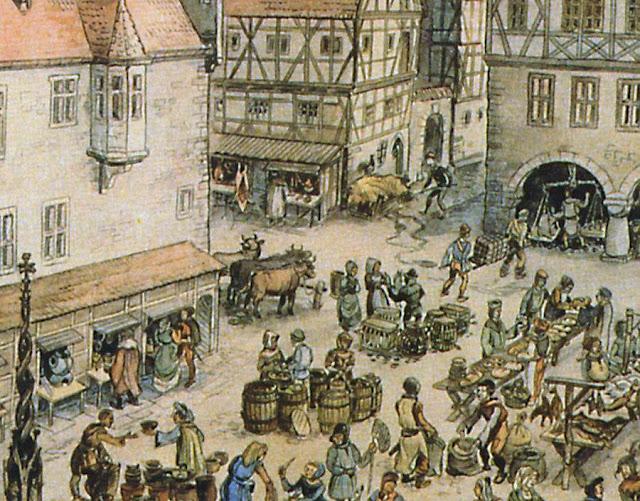 Feira medieval: comércio direto entre produtor e consumidor