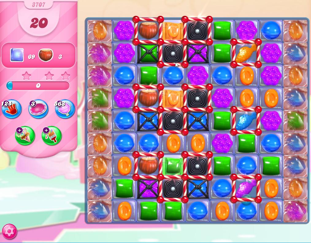 Candy Crush Saga level 3707