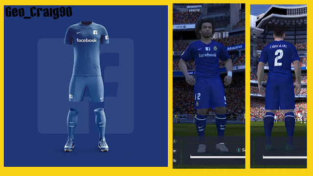 PES 2016 Kits Real Madrid Fantasy Social Media (Works on PES 2017) By Geo_Craig90