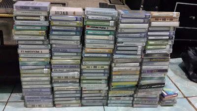 tumpukan kaset kajian salaf