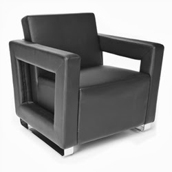 Distinct Series Modern Black Lounge Chair by OFM