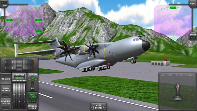 تحميل لعبة قيادة الطائرات للكمبيوتر والموبايل الاندرويد والايفون برابط مباشر مجانا download airplane simulator games