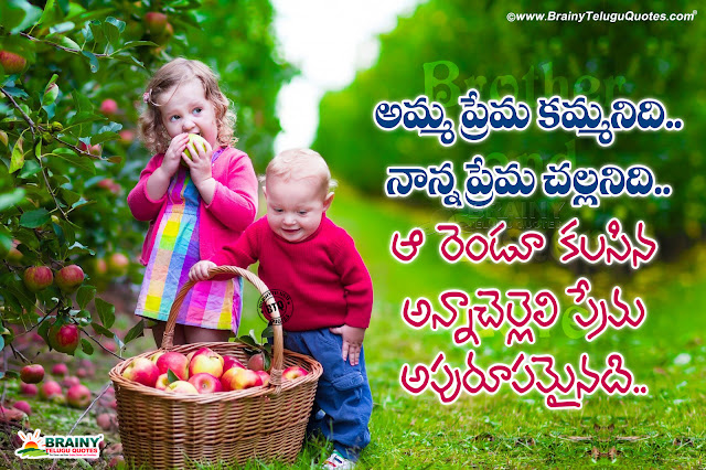 best telugu brother and sister quotes, cuteness of brother and sister quotes in telugu, tom and jerry quotes in telugu