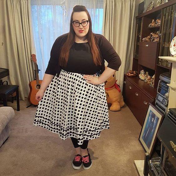 Lindy Bop Polka dot plus size dress