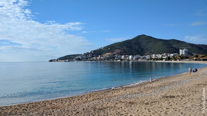 Пляж Будвы зимой, Черногория