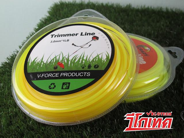 เอ็นตัดหญ้า แบบเหลี่ยม 3.0 มิล 64 เมตร (สีเหลือง) ราคาถูก