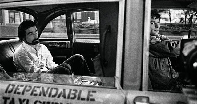 """Rare Behind the Scenes Photographs from the Making of the Film """"Taxi Driver"""""""
