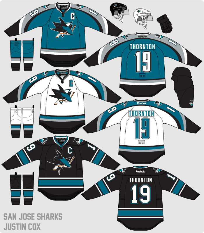 outlet store 693eb 84305 The Art of Hockey: San Jose Sharks Re-Design