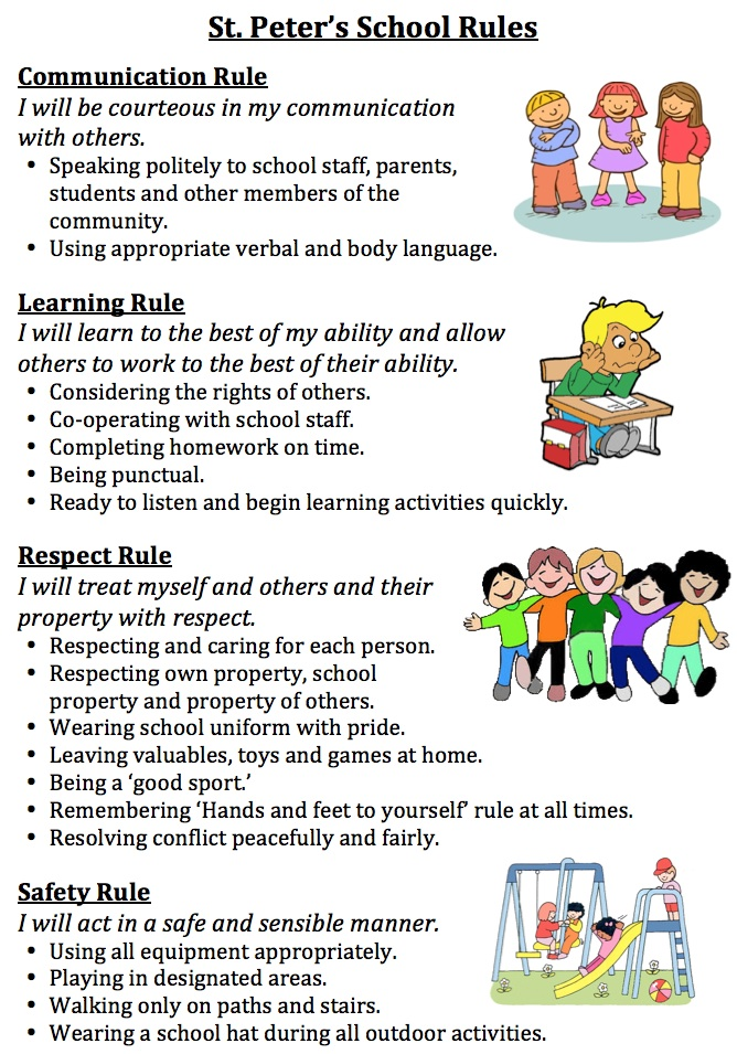 essay on school rules and regulations