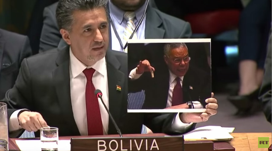 Bolivia mercilessly trolls US over Iraq WMD lie in front of UN Security Council (VIDEO)