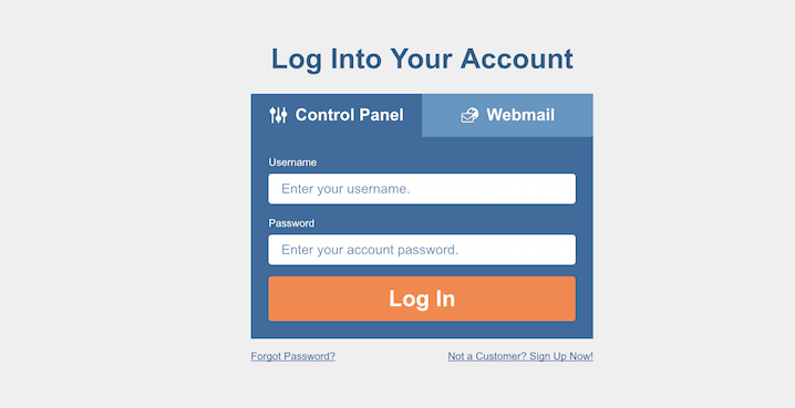 HostGator Cpanel Log in