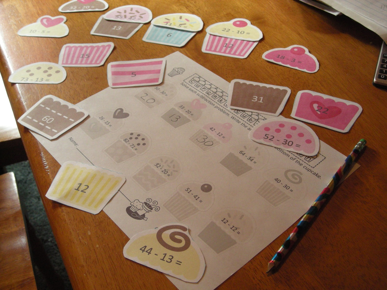 2nd Grade Pig Pen Cupcake Math Stations And A Freebie