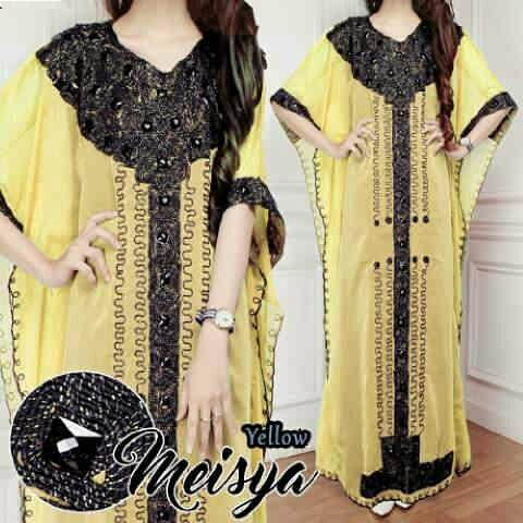 Jual Kaftan Kaftan Meisya Yellow - 12596