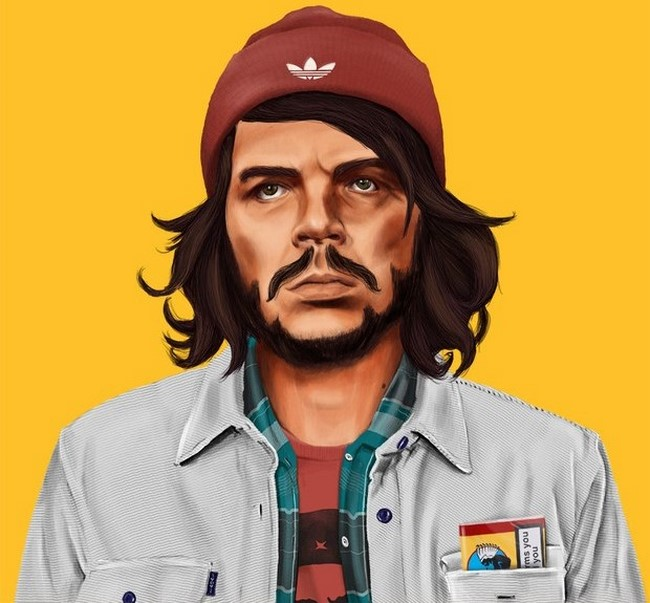 Personalidades históricas transformadas em hipsters